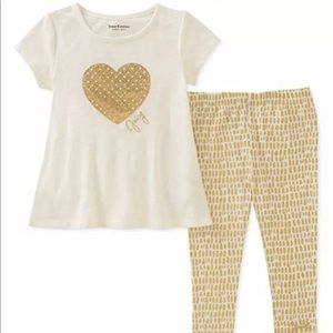 Juicy Couture Gold Heart Outfit